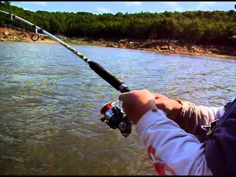 Bluecat fishing lake keystone youtube for Keystone lake fishing report