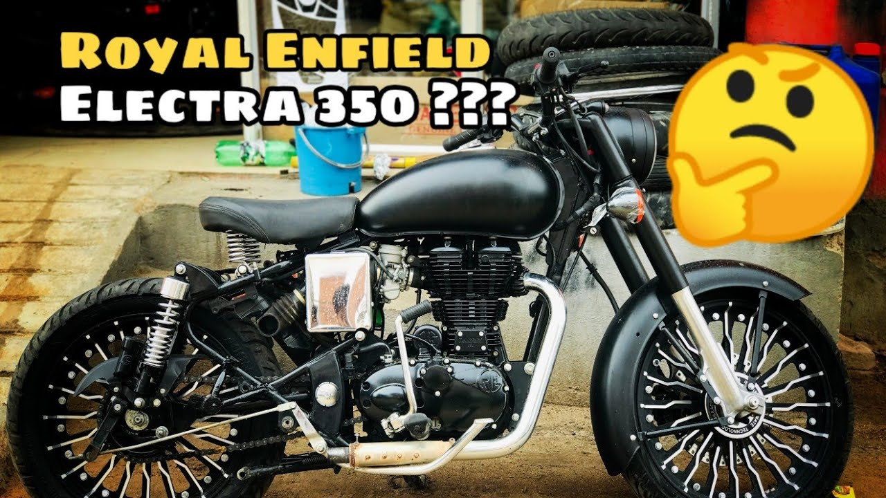 Royal Enfield Electra 350 into classic stealth black 500  Bike Modifications   Bullet Tower sikar