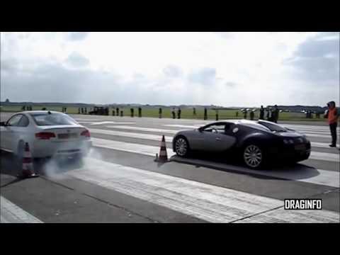 BMW M3 vs Bugatti Veyron Drag Race