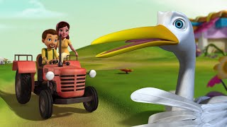 Lucy The Goose - Farm In-Charge | Bedtime Stories for Children | Infobells
