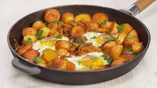 Разбитые яйца Huevos rotos Знаменитый картофель по испански Рецепт от Всегда Вкусно
