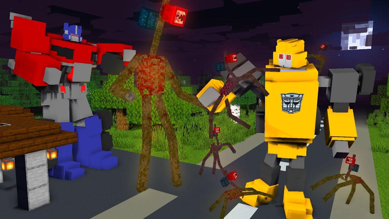 Monster School : ROBOT TRANSFORMERS vs SIREN HEAD - Minecraft Animation