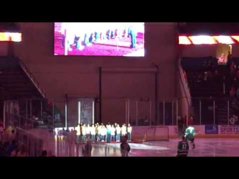 Southaven Intermediate School Singing O Canada at Mississip