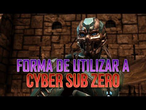 MKXL | Tutorial | Forma de utilizar a Cyber Sub Zero en Mortal Kombat X | Jugar sin variante