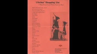 Shopping List for a Witch