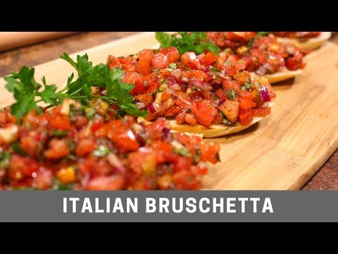 Italian Bruschetta Easy Recipe