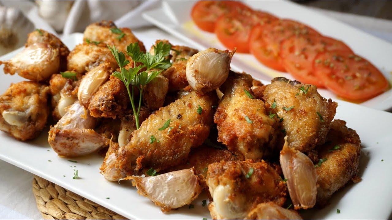 Alitas de pollo al ajillo youtube - Cocinar pollo al ajillo ...