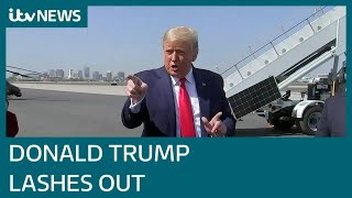 Donald Trump hits out at Joe Biden and the media in countdown to election day | ITV News