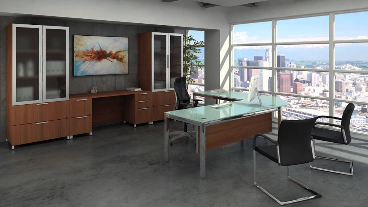 Executive Office Furniture - Modern Office Desks - YouTube