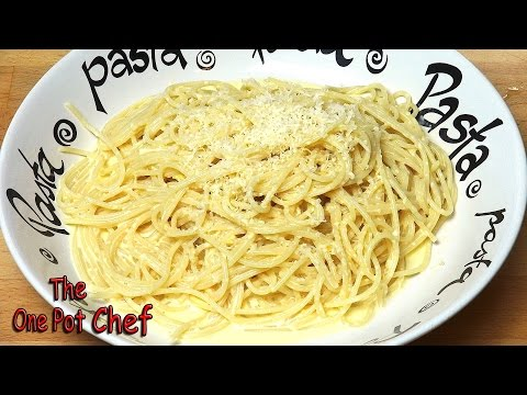 Creamy Lemon Spaghetti | One Pot Chef
