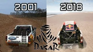 Evolution Of  Dakar Game 2001 -  2018
