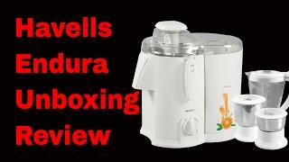 Havells Endura Juice Mixer Grinder Unboxing Review & Demo Best Juicer Mixer