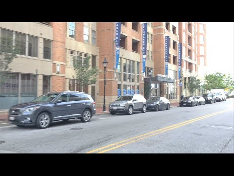 Driving Downtown - Harbor East - Baltimore USA