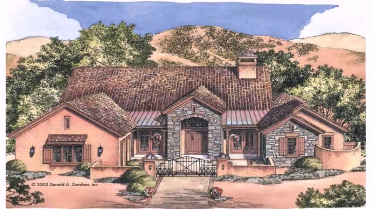 Mexican Hacienda Style House Plans Youtube