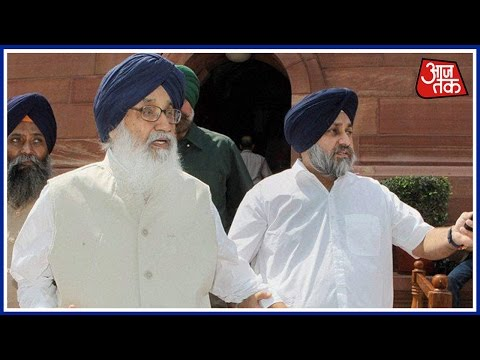 Shoe Thrown At Punjab CM Parkash Singh Badal In Bathinda