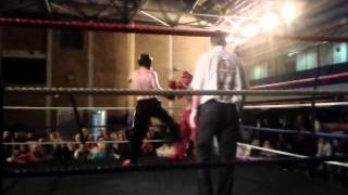 Paul McIlhinney Kickboxing Northern Ireland WKA 70kg Title Fight in Larne 2012