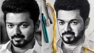 Actor Vijay | Actor Vijay Art | Actor Vijay Portrait Drawing | Actor Vijay | Master Vijay