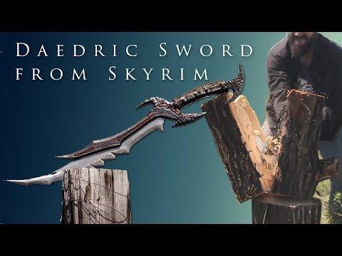 Создание реального даэдрического меча из TES V: Skyrim