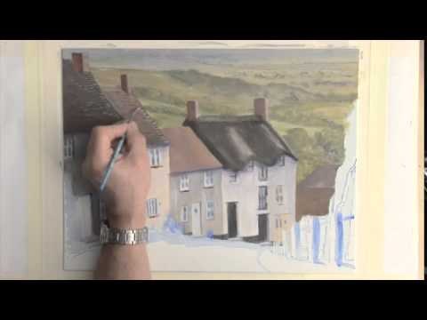 Painting Buildings in Acrylics - Gold Hill Cottages