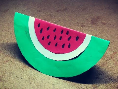 Watermelon Craft   Paper Fruits for kids   Paper Craft