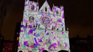 Fête des lumières Lyon 2017 -  Unisson, cathédrale Saint-Jean