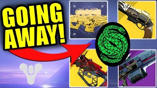 EVERYTHING That's GOING AWAY in Destiny 2 Beyond Light!
