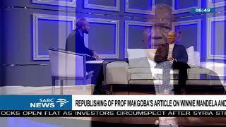 Republishing of Prof. Makgoba's article on Winnie Mandela and TRC