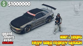 DO THIS SOLO GTA 5 ONLINE MONEY GLITCH.. (unlimited money)