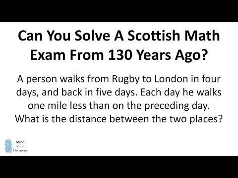 Can You Solve A Scottish Math Exam From 130 Years Ago?