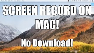 Download lagu How To SCREEN RECORD on MAC No Downloads FREE MP3