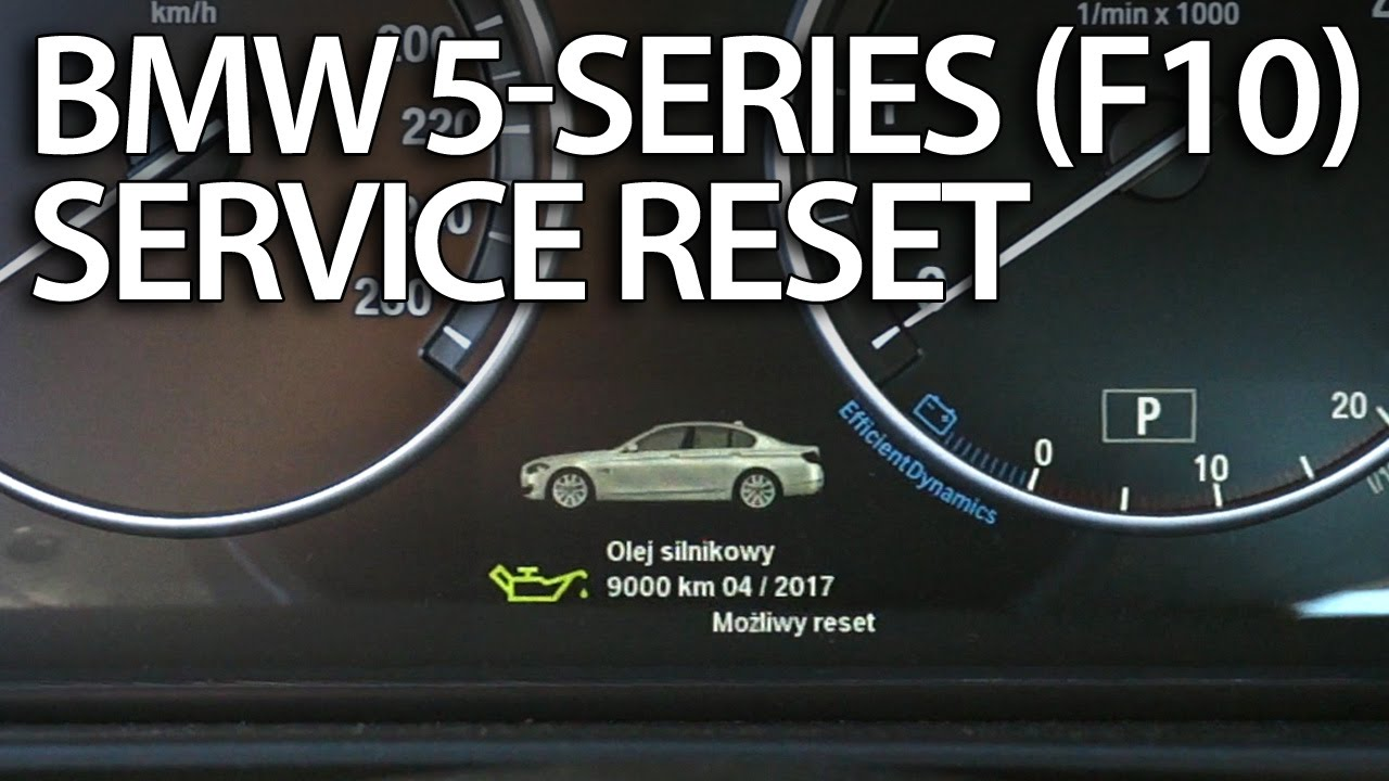 BMW 5-Series service reset (F10 F11 F07) - mr-fix info