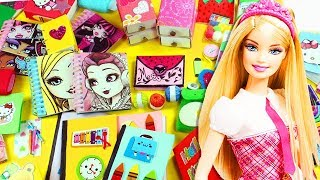 30 DIY Miniature Back to School Supplies for Dolls