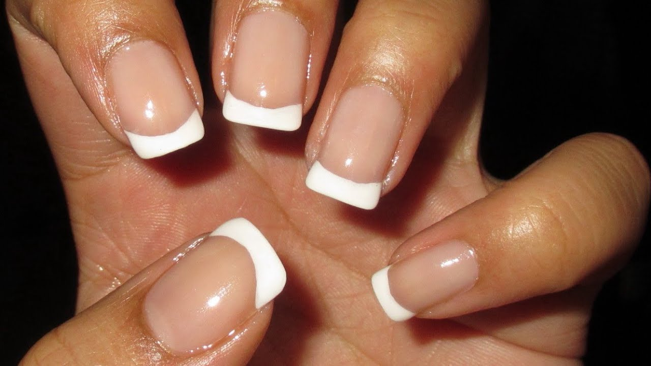 Basic French Manicure Tutorial - YouTube