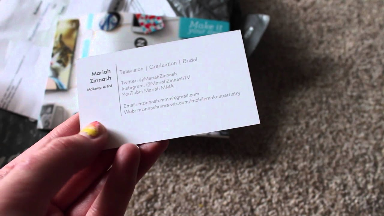 Makeup Artist Business Cards - YouTube
