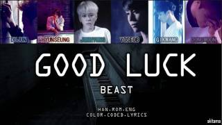 good luck beast 비스트 hanromeng color coded lyrics