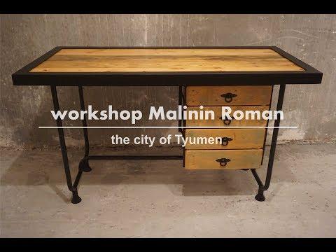 Реставрация стола в стиле лофт / Restoration of the table in loft style