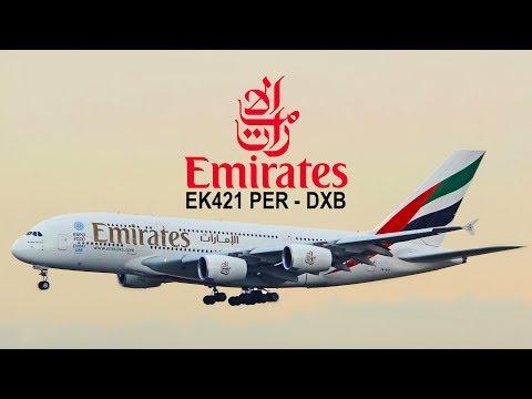 Emirates A380 Perth to Dubai EK421 Economy Class Flight Review with ATC