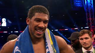 Download POST FIGHT: Anthony Joshua says he wants to fight Deontay Wilder next Mp3 and Videos
