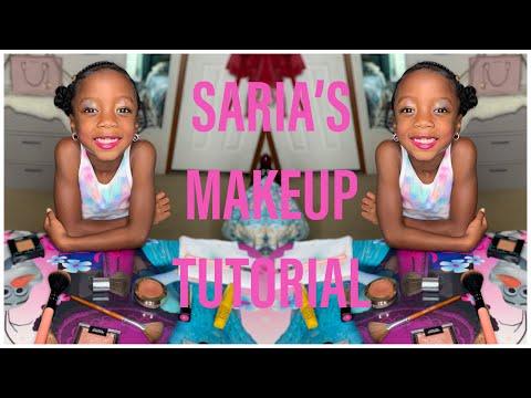 Saria's Makeup Routine! | Kids Makeup Tutorial