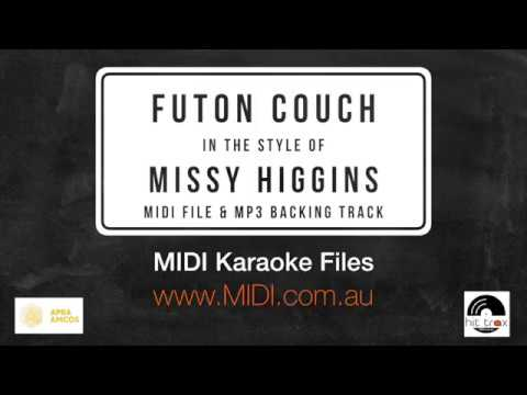 Futon Couch (in the style of) Missy Higgins (MIDI Instrumental karaoke backing track)