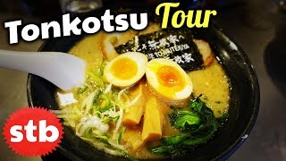 Tonkotsu Ramen Noodles Tour in Tokyo, Japan // Hunting for the BEST Tonkotsu Ramen Shop