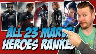 all 23 mcu heroes ranked from worst to best w black panther from the marvel cinematic universe