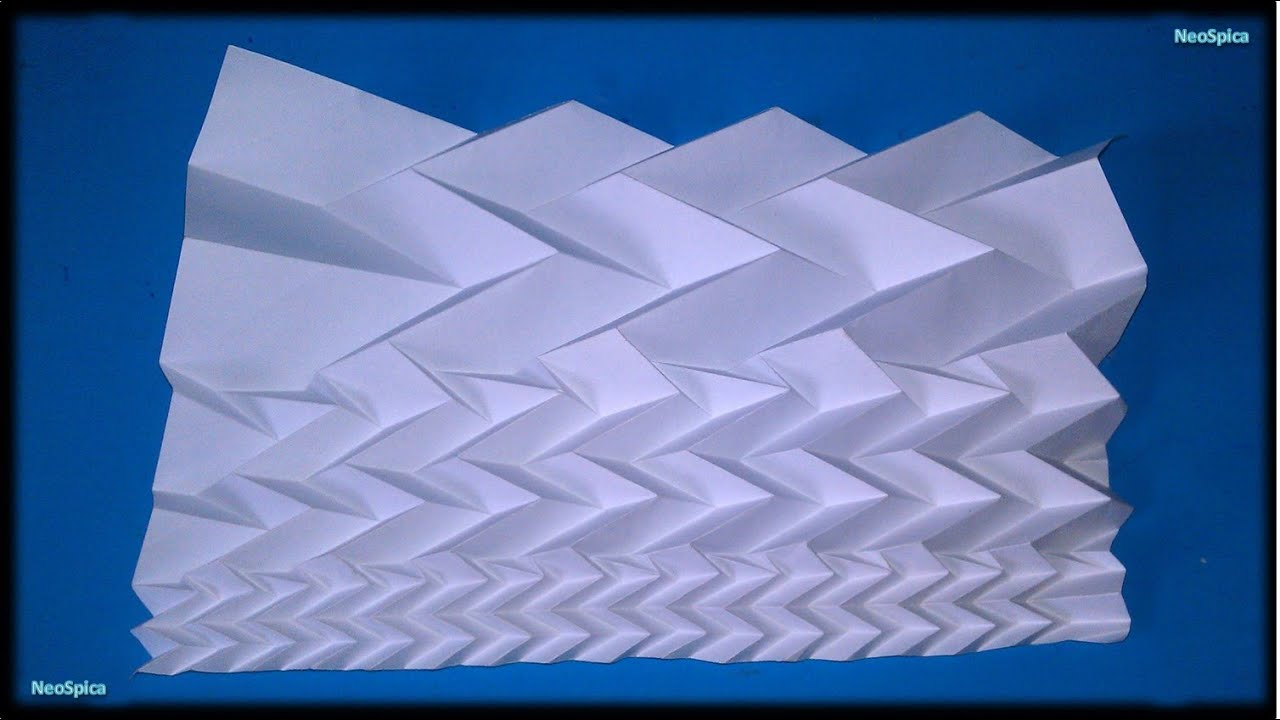 Fractal Tessellation Paper With Pattern Miura