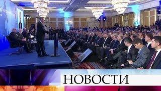 Президент Владимир Путин выступил на съезде Российского союза промышленников и предпринимателей.