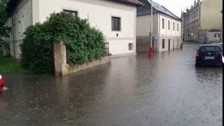 Kutná Hora - přívalový déšť