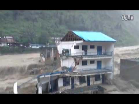 Flood Water Destroy Building