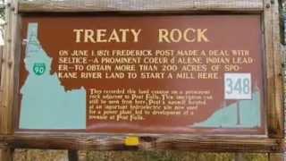 Treaty Rock Park in Post Falls, Idaho