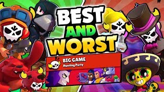 BEST u0026 WORST BIG GAME BRAWLERS IN BRAWL STARS! HOW TO GET YOUR BEST TIME!