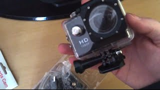 Review & Unboxing HD Sports Action Video Camera SJ4000 A9 Alibaba & Aliexpress