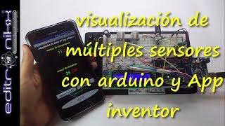 visualizacion de multiples sensores con arduino y App inventor (primera revision)